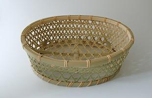 国産 真竹 椀かご 楕円型
