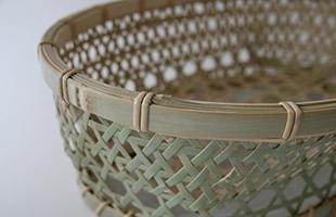 国産 真竹 椀かご 楕円型 湯呑も並べて置けます