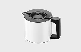 下部の保温ポットは適温で抽出したコーヒーをそのままキープするので、再加熱しなくても長時間美味しくいただけます