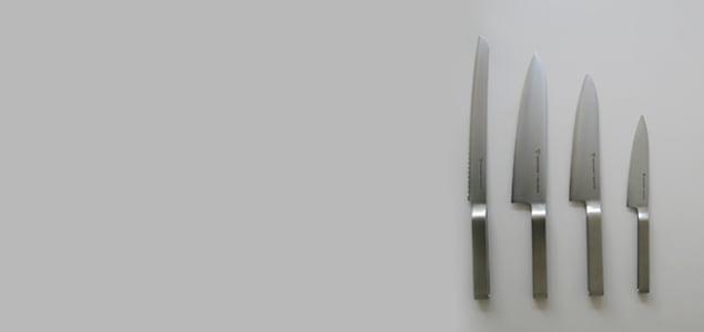ヨシタ手工業デザイン室 ステンレスラウンドバーシリーズの包丁 ナイフ
