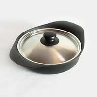 柳宗理/南部鉄器/鍋 深型鍋 鉄蓋ハンドル付