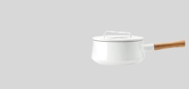 北欧デンマーク/ダンスク dansk/片手鍋 18cm 白  [片手鍋は北欧ダンスク dansk]