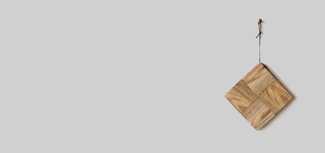 RetRe リツリ/虫喰い木材の鍋敷き チェック [RetRe リツリ/虫喰い木材の鍋敷き・ポットホルダー・鍋しき/おしゃれな北欧風鍋しき]