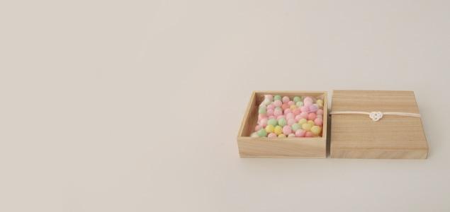 粋更 桐箱入り おいり [香川の伝統和菓子/引き菓子/引菓子 おいり]
