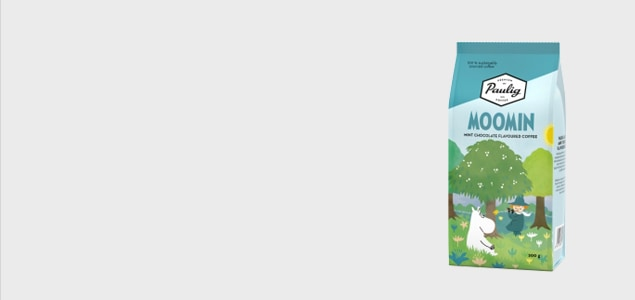 ロバーツコーヒー/ムーミンパッケージ/ムーミンママ チョコミントコーヒー<br> [ムーミンのアイスコーヒー 水出しコーヒー豆]