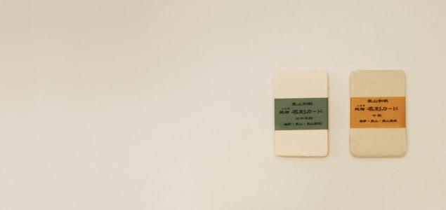 東山 和紙/名刺/未晒(生成り) 10枚 【メール便対応可】[M便 1/10]