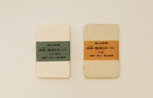 東山 和紙/名刺/晒(白) 10枚 【ネコポス対応可】[ネコポス便 1/10]