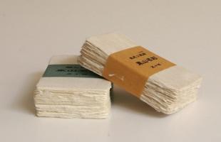 東山 和紙/名刺/未晒(生成り) 50枚(箱入り)