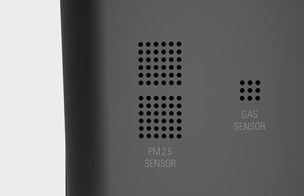 気体センサーとホコリセンサーが搭載されており、LEDライトの色で空気中の汚れが一目でわかります
