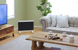 MyHeat Seraphyは、赤外線ヒーターで身体を直接温めながら、お部屋の壁や床・天井、家具なども優しく温めてくれます