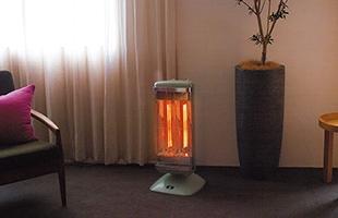 遠赤グラファイトヒーターを採用した最先端の技術によって瞬時にお部屋を暖めることが出来ます