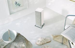 足元や洗面所だけでなく、広いリビングもハイパワー温風で急速に暖めます