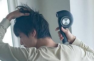 ヘアドライヤー BD-E1はトリプルトリートメントテクノロジーにより髪と地肌にやさしい風を生み出します
