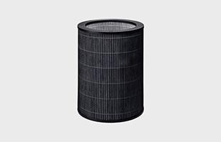 空気をすばやくきれいにすることを考え、流れを妨げないように360゚全ての面から4層一体型フィルターで空気をすばやく吸うことができます