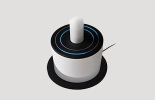 電源、風量、首ふり、風向きなど基本的な設定は本体台座部分に取り付けてある新開発のダブルセンサーリングで直感的な操作が可能です