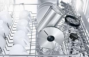 ミルクが触れる部分は、すべて食洗器で洗浄可能でミルククーラーを清潔に保ちます。