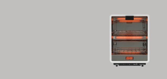 ±0 プラスマイナスゼロ/オーブントースター縦型[深澤直人 デザイン 家電 オーブン型 トースター プラスマイナスゼロ プラマイ ±0]