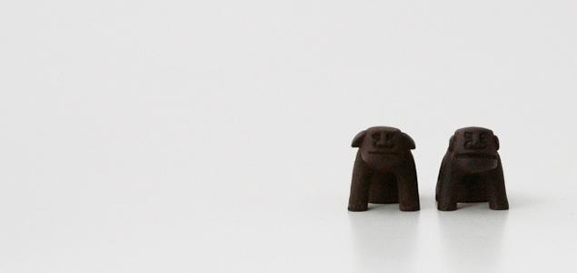 釜定/南部鉄器/オーナメント/狛犬
