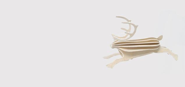 北欧lovi ロヴィ/クリスマス オーナメント/トナカイ 置物・オブジェ [オーナメント:トナカイのオブジェ・置き物] 【ネコポス対応可】[ネコポス便 1/4]