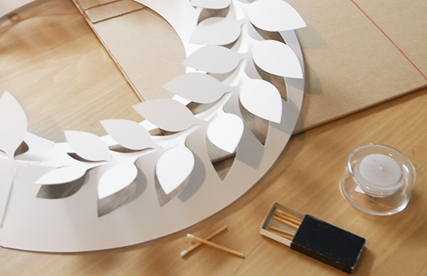 paper wreath/月桂樹 Lは、直径450mmの大ぶりなサイズです