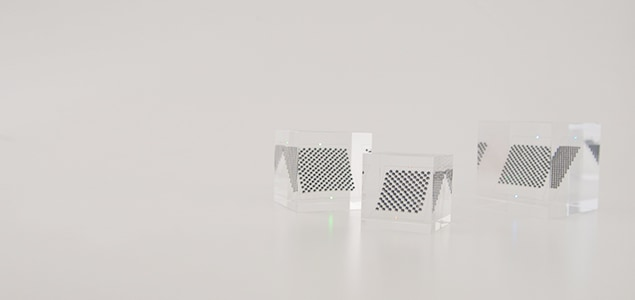 太陽光エネルギーを可視化するオブジェ スフェラーキューブ