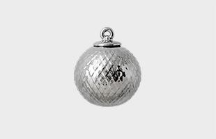LYNGBY PORCELAIN Rhombe Bauble silver