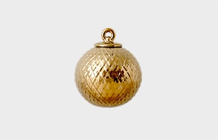 LYNGBY PORCELAIN Rhombe Bauble gold