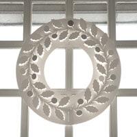 クリスマスリース ホワイト/paper wreath/ひいらぎ S【小型宅配便(ネコポス)対応】 [クリスマスリース/ホワイトはchiori design ペーパーリース][ネコポス便 1/7]