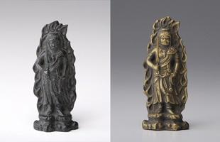 高岡銅器 金属仏像/十二支のお守り本尊/7cm/虚空蔵菩薩