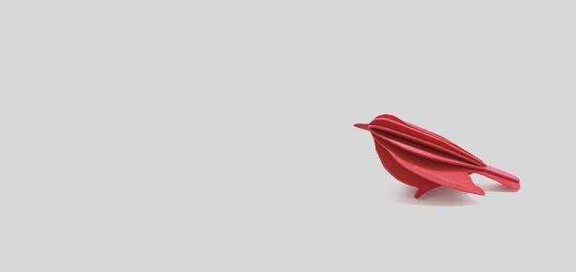 北欧lovi オーナメント/ミニバード 5cm×3個入り[M便 1/8] [北欧の鳥オーナメント オブジェ/鳥の置物 オブジェは北欧製]