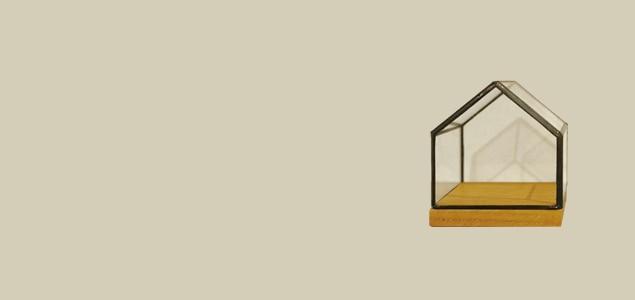 Holz/in HOUSE 80/ショーケース 小物入れ/エアープランツ 容器にも[エアープランツ 容器はholz]