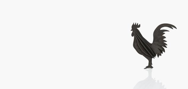 北欧Loviがデザインした酉年オーナメント、Rooster(雄鶏・にわとり)