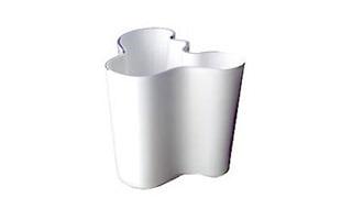 iittalaイッタラ/aalto vase アアルト ベース/花瓶 ホワイトM [北欧iittalaイッタラのaalto vase(アアルトベース)/北欧フィンランド製 alvar aaltoデザインのガラス花瓶]