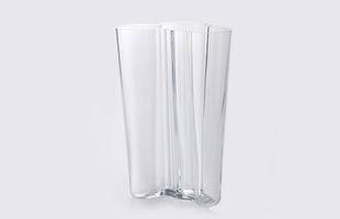 iittalaイッタラ/aalto vase アアルト ベース/花瓶 finlandia 251mm/クリア