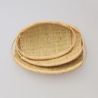 岩手 鳥越 竹細工|取っ手つき楕円ざる 小