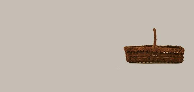 山葡萄 取っ手付きかご/大 浅型 [ 奥会津の山葡萄かご ]