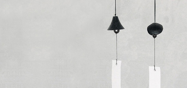 風鈴 南部鉄器 笠/小笠原陸兆(短冊/東山和紙 未晒)[おしゃれ 風鈴 南部鉄器は小笠原陸兆]