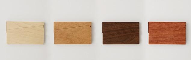 薄型名刺入れメイプル/カードケース [木製の薄型名刺入れ/カードケース]