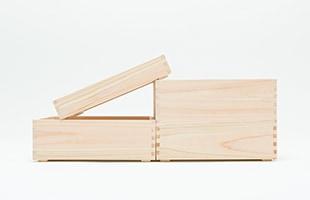 積み重ねても使いやすいよう箱の底面には裏桟がついています