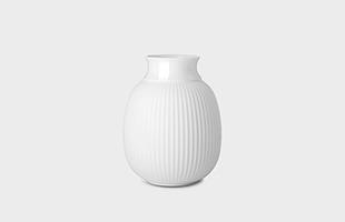 Lyngby porcelain Curve Vase white
