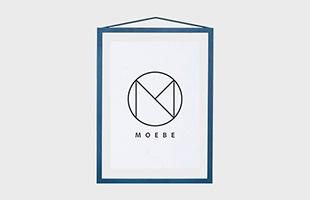 MOEBE フレーム A3 ディープレッド ライトグレー ペールローズ