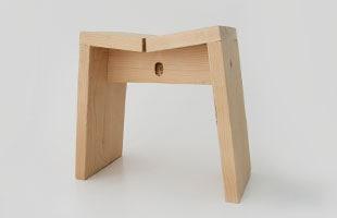木曽生活研究所/木曽のサワラで作った風呂椅子