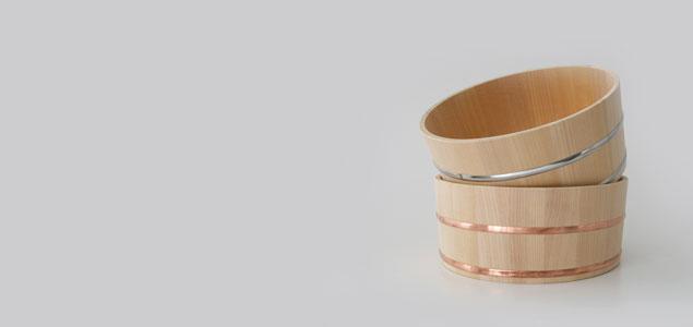 木曽生活研究所/木曽のサワラで作った湯桶