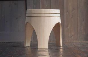 木曽生活研究所/木曽の檜で作ったスツール