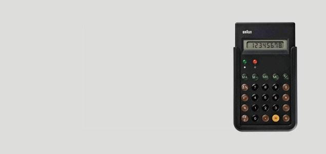 braun ブラウン/電卓・計算機 et66 [ BRAUNのコンパクトな電卓・計算機 ]