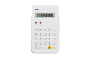 BRAUN/ブラウン/電卓・計算機 ホワイト/BNE001WH [ BRAUNのコンパクトな電卓・計算機 ]