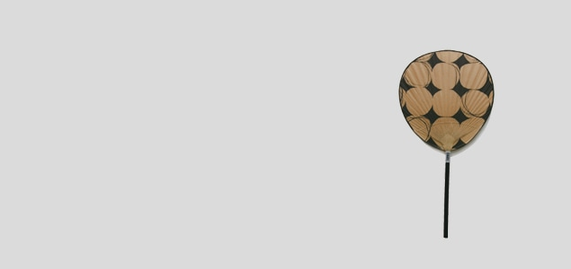 【熊本産】栗川商店/渋うちわ(おしゃれ・手作り)小丸 komaru/パッチワーク[ 熊本産アイテムのご購入で被災地を応援 ]