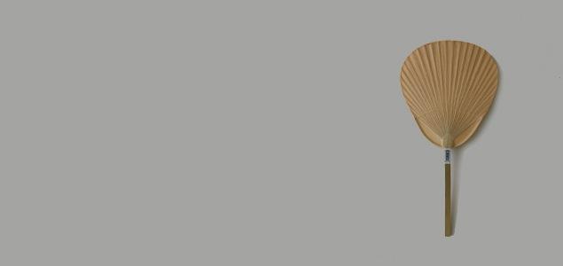 【熊本産】栗川商店/渋うちわ(無地・手作り)仏扇 butsusen  【メール便非対応】[ 熊本産アイテムのご購入で被災地を応援 ]