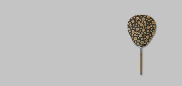 【熊本産】栗川商店/渋うちわ(おしゃれ・手作り)仏扇 butsusen/柄有り/12種類 【メール便対応可】[M便 1/2][ 熊本産アイテムのご購入で被災地を応援 ]