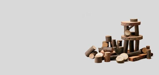 ツリーブロックス/自然を活かした積み木/無塗装 [無塗装の積み木/ブロック]